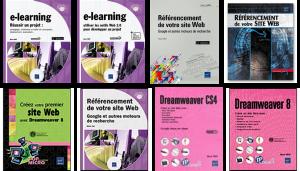 Livres création de sites web, référencement, e-learning