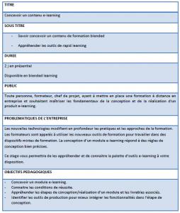 Concevoir un module e-learning